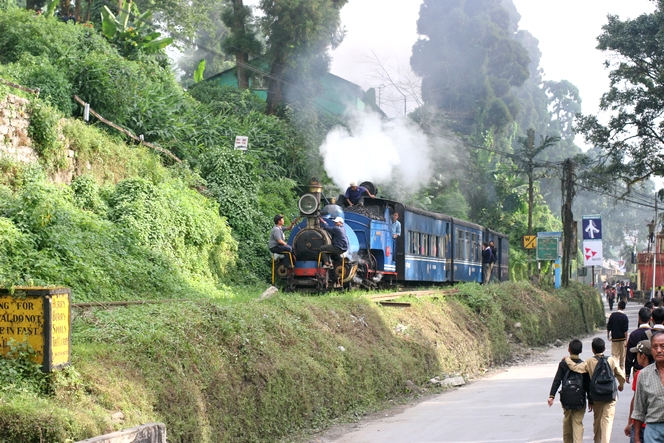 The little Darjeeling train requires a large crew