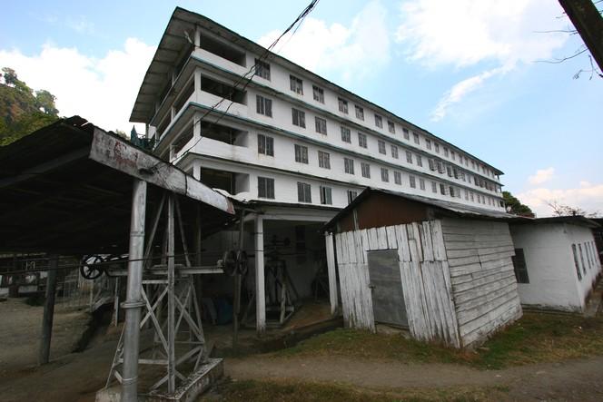 Namring Tea Estate : an imposing factory