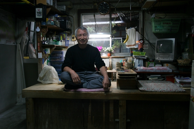 Hattori Koji-San, a master potter in central Kyoto