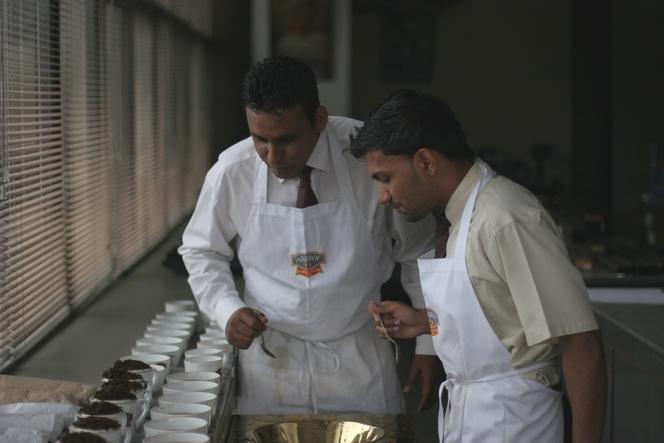 Tea tasting with Dilan and Vidusha