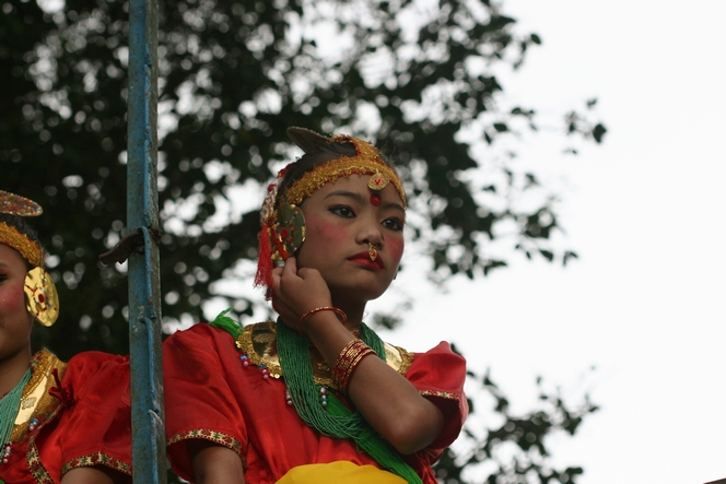Dancer ready to go on stage in Darjeeling