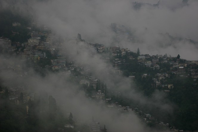 Darjeeling hit by a hailstorm a few days ago