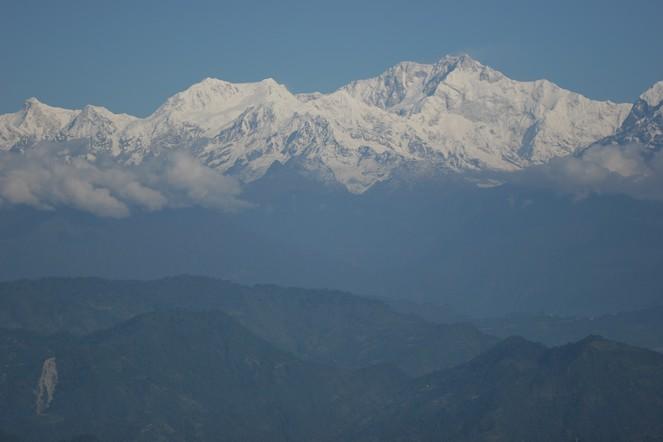 View of the Kanchenjunga range