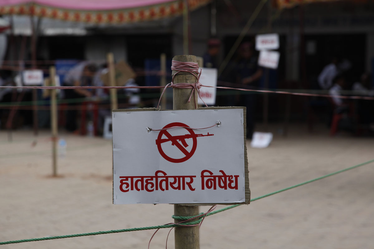 In Nepal, special measures are put in place on election days