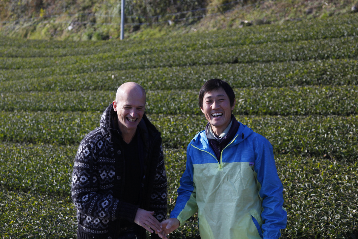 In Japan, organic farmers, father and son