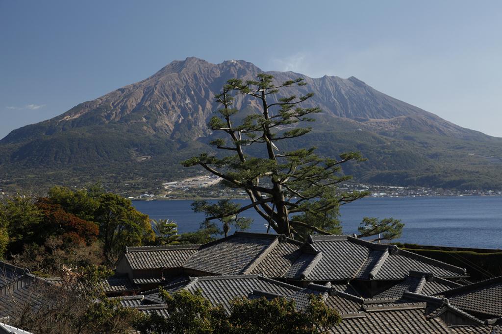 Sakurajima volcano in Kyushu